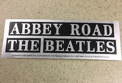 "The Beatles Abbey Road Chrome Sticker 6""x2"""