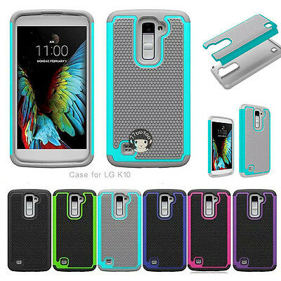 For LG Phoenix 2 (AT&T) K371 Dual Layer Armor Shockproof Phone Case Cover Skin