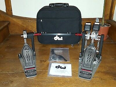 DW 9002 Double Bass Kick Pedals, Latest Model, Used 3 Times Only!!!