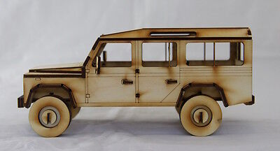 Laser cut Land Rover County LWB Wooden Construction Kit + PVA GLUE