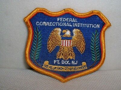 Federal Correctional Institution Ft. Dix, NJ Embroidered Patch - New & Unused