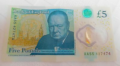 RARE New £5 Pound Note Bank of England AA55 Low Number