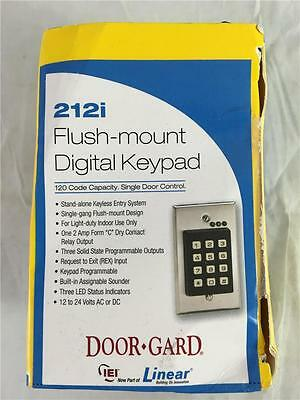 NEW Linear Door-Gard 212i Flush-Mount Digital Keypad 120 Code Capacity