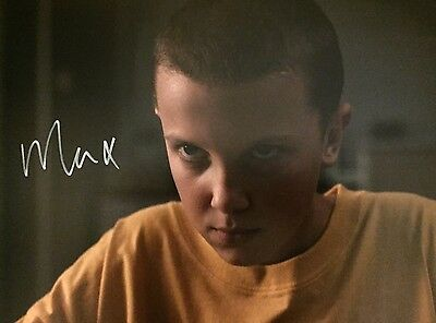 (Stranger Things) Miley Bobby Brown Original Hand signed photo 12x8 With COA