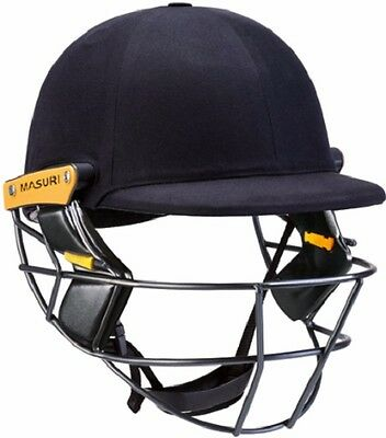 2017 Masuri Original Series MKII Navy Cricket Helmet with Titanium Grill