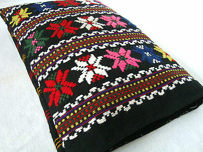 Vintage Ottoman style Woolen Hand-woven Hand embroidered decorative pillowcase