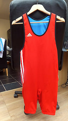 Adidas Fully Reversible Fitness/running/singlet  Size Large  (Red/blue)