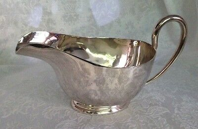 "Vintage Large Silverplate Gravy Sauce Boat 8 1/2"" long, Heavy, Brilliant Shine"