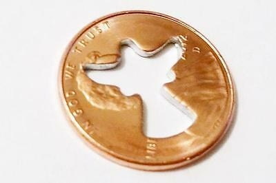 GUARDIAN ANGEL CUT OUT PENNY  Coin Token Lucky Charm