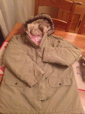 Girls M&S Green Parka 13-14Years