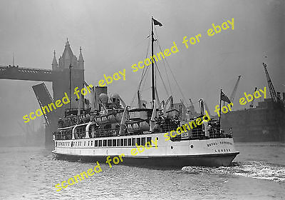 """Photo - Medway Steam Packet Company """"Royal Sovereign"""", Pool of London, July 1937"""