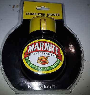 RARE Unopened Retro Marmite Wired, USB Mouse. Limited Edition Unused