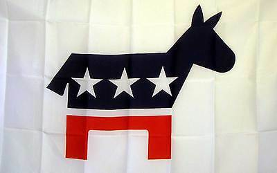 3 Democratic Party Flag 3'x 5' Democrat Banner made in USA (three)