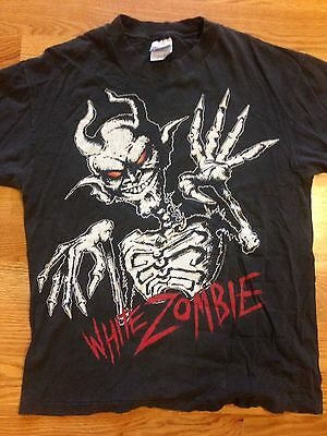 Vintage White Zombie 666 Muthafucka Concert Tour T-Shirt L Black Metal 1996 Rob