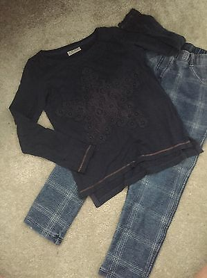 Next Girls Outfit Age 5-6 Years , Long Sleeved Top & Jeggings