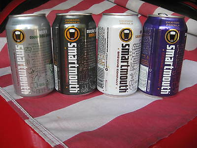 4 OLD BEER CANS: SMARTMOUTH: 3 B/O; 12 oz