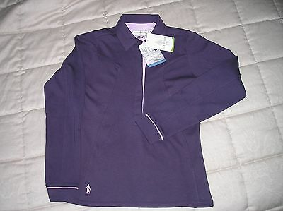 GLENMUIR LADIES PURPLE GOLF SHIRT Size XS new with tags RRP £42