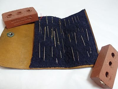 Vintage Leather Needle Pouch