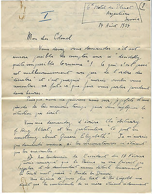 Albert I of Belgium: two original letters concerning his death in the Ardennes