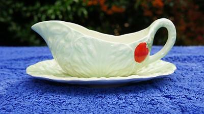 Charming Carlton Ware Salad Leaf Ware Sauce Boat and Tray, Stand.