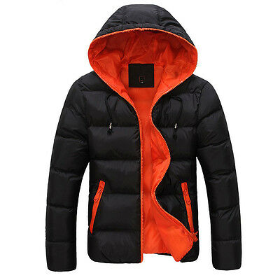 Cheap BLACK Mens Slim Winter Coat Jacket Outerwear Overcoat Casual Tops Size M