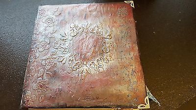 Vintage Antique Hard Cover Junk Journal/Writing Journal/ Diary