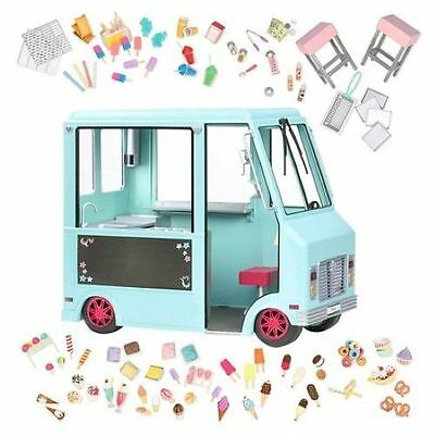 "NIB Our Generation Ice Cream Truck & Accessories for 18"" Doll~Ready to Ship"