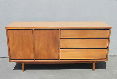 Vintage Danish Mid Century Modern CREDENZA by Stanley MFG Co. Sideboard Buffet