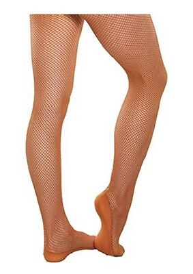 Body Wrappers A67 Women's L/XL Suntan Professional Seamless Fishnet Tights