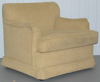 Howard Style Open Armchair With Ruffled Rippled Upholstery A Nice Find Cream