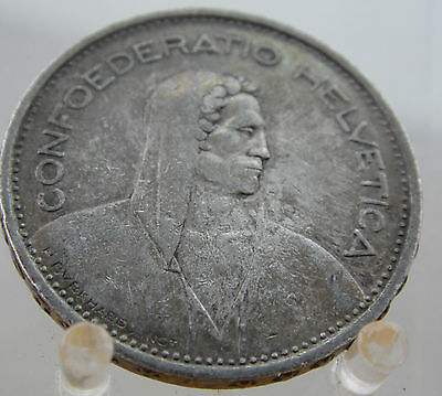 1932 Silver Swiss 5 Francs