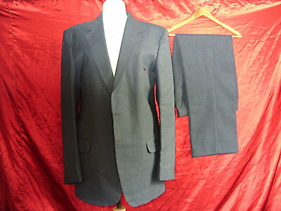 "Mens bus jacket & trousers - WM Travel - 40"", 38"", 30L- Blue Grey - 0073"