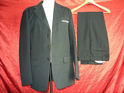 "Mens bus jacket & trousers-Blue Buses-40"",31"", 32L-Navy, heavy woven- 0087"