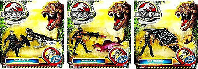 Lot Jurassic Park World Battle Growlers Dino Trackers Figures W/ Dinosaurs Moc!