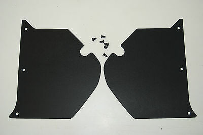HK HT HG HOLDEN Kick Panels Black (pair) Inc 6 Trim Buttons **Top Quality**