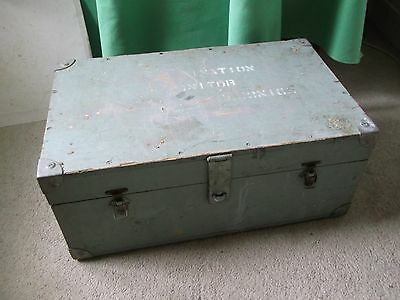 Vintage Wooden Chest Trunk,Industrial Military Ammunition Tool Box Storage Etc