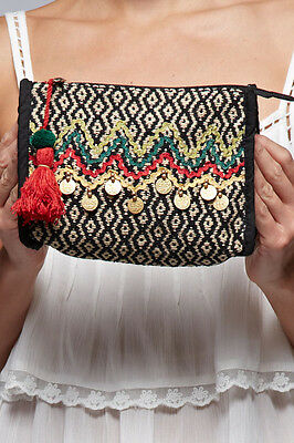 **BOUTIQUE ITEM** Love Stitch Multi-Print embellished  Bag** PERFECT GIFT