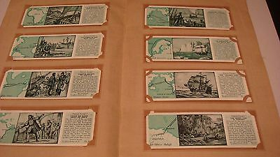 TYPHOO FAMOUS VOYAGES  by Typhoo Tea Ltd 1938 SET IN BOOK