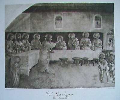 FRA ANGELICO  The Last Supper - 19th century engraving