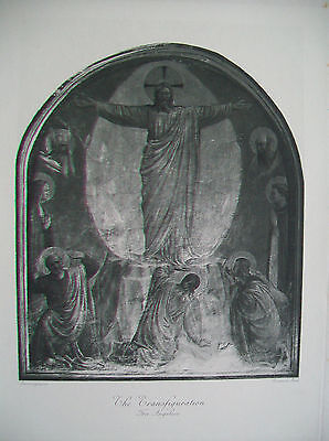 FRA ANGELICO  The Transfiguration - 19th century engraving