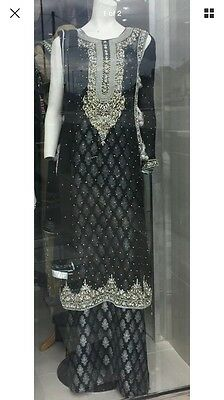 Asian pakistani indian designer stunning wedding Partywear  stitched Suit Medium