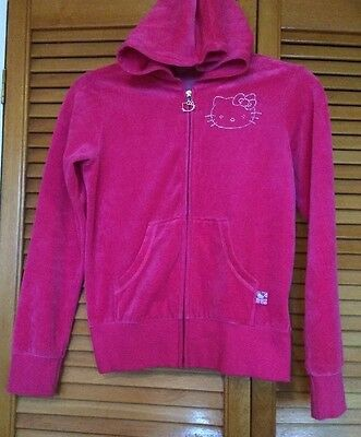 Hello Kitty Girls Embellished Pink Hooded Jacket~Age 11-12 Yrs~