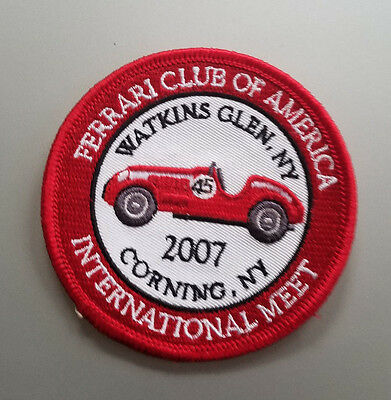 FERRARI Club of American 2007 Annual Meet Embroidered Patch FCA