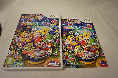 Nintendo Wii Mario Party 9 Replacement Case And Manual Instructions NO DISC