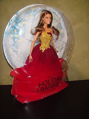 Brand New 2016 Holiday Christmas Barbie Doll Ruby Red
