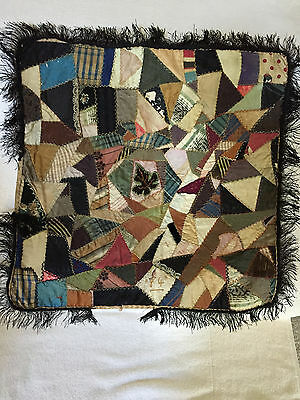 Crazy Quilt Pillow Covering 1884