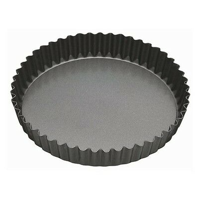 KitchenCraft Master Class Fluted Flan Tin/Quiche Pan with Loose Base - 25 cm (10
