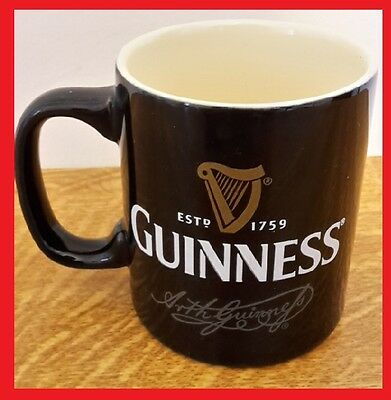 ~~Guinness Mug Coffee Cup Limited Edition Ceramic Black Official!!~~