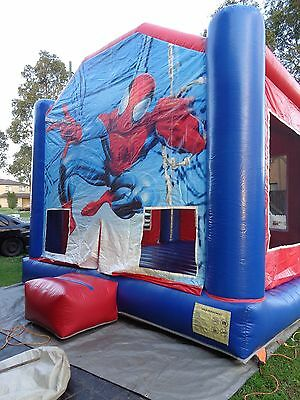 Superhero Spiderman Jumping Castle Hire from $180 5m x 5m