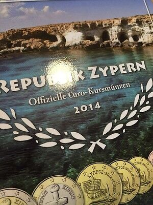 Cyprus Euro Coins 2014 Set 1cent To 2 Euro Complete Blister Folder Bunc